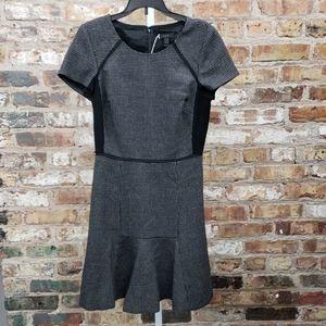 J Crew gray and black plaid dress
